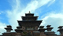 Taleju Temple, built in 1564 stands 36.6 metres high resting on a twelve stage plinth.jpg