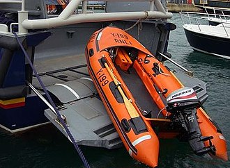 RNLB Lester (ON 1287) - Image: Tamar Class Lifeboat with Y Class stowage