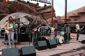 Tame Impala - Tame Impala performing at Red Rocks Amphitheatre in June 2010