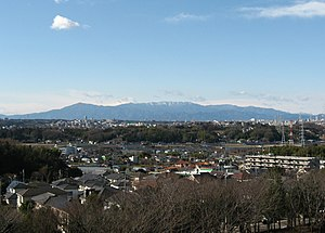 Tanzawa Mountains - View from Yokohama (January 2007)