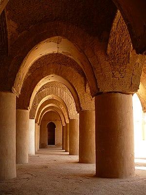 Tarikhaneh Temple - A view of the portico of Tarikhaneh