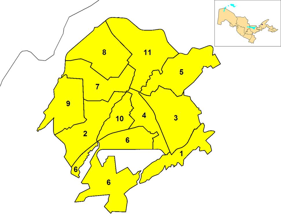 Tashkent City districts