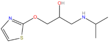 Tazolol structure.png