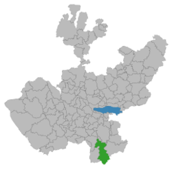 Location of the city in Jalisco