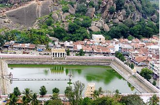 Kingdom of Mysore - Temple pond constructed by King Chikka Devaraja Wodeyar at Shravanabelagola, an important Jain temple town