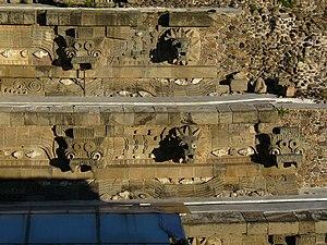 Vista parcial del Templo de Quetzalcoatl