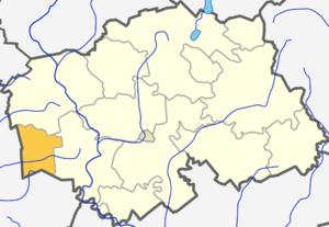 Teneniai - Image: Teneniu seniunija (Silales rajono zemelapis)