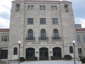 Texarkana, Arkansas - Municipal Auditorium is located in the City Hall complex in Texarkana, Arkansas.