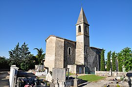 Thèze, church and cemetery