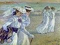 Théo van Rysselberghe, Jonge vrouwen op het strand, 1901.jpg