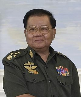 Than Shwe Burmese general and Prime Minister