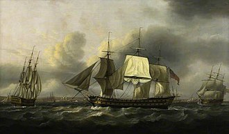 Earl of Abergavenny (1796 EIC ship) - Image: The 'Earl of Abergavenny' East Indiaman, off Southsea