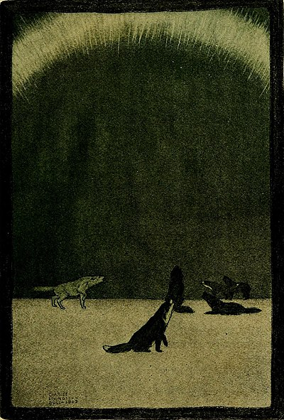 The Call of the Wild (1903) p. 85 With the aurora borealis.jpg