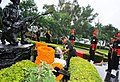 The Chief of Army Staff, Gen. V.K. Singh laying wreath at the war memorial, at Infantry School Mhow, (U.P.) on September 02, 2011.jpg