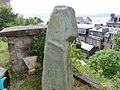 The Granny Kempock Stone, Gourock, Inverclyde. East facing side and old white carved details stone.jpg