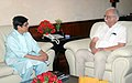 The Lt. Governor of Puducherry, Ms. Kiran Bedi calling on the Union Minister for Civil Aviation, Shri Ashok Gajapathi Raju Pusapati, in New Delhi on July 27, 2016.jpg