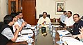 The Minister of State for Culture (IC) and Environment, Forest & Climate Change, Dr. Mahesh Sharma chairing a review meeting with the senior officials on Kumbh Mela, in New Delhi on August 20, 2018.JPG