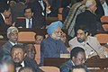 The Minister of State for External Affairs, Shri Anand Sharma consulting the Prime Minister Dr. Manmohan Singh during the XIVth Non -Aligned Movement's Business Forum on South-South Cooperation at Havana, Cuba on September 15.jpg