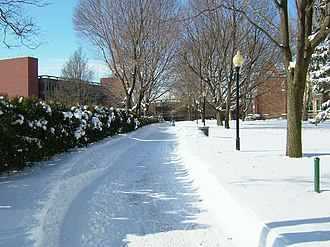 Wagner College - Image: The Path at Wagner College Covered in snow