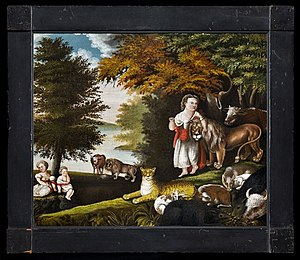 American Folk Art Museum - Image: The Peaceable Kingdom, Edward Hicks (1790–1849)