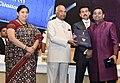 The President, Shri Ram Nath Kovind presenting the Rajat Kamal Award to A.R. Rahman.JPG