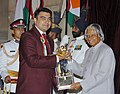 The President Dr. A.P.J. Abdul Kalam presenting the Arjuna Award -2005 to Shri Gagan Narang for Shooting, at a glittering function in New Delhi on August 29, 2006.jpg
