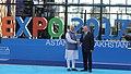 The Prime Minister, Shri Narendra Modi being welcomed by the President of Kazakhstan, Mr. Nursultan Nazarbayev, at the inauguration of the Astana EXPO-2017, in Astana, Kazakhstan on June 09, 2017 (2).jpg
