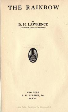 The Rainbow, Lawrence, 1921 reprint.djvu