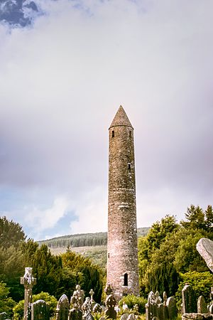 Glendalough - The Round Tower at Glendalough, Co. Wicklow, Ireland 2012