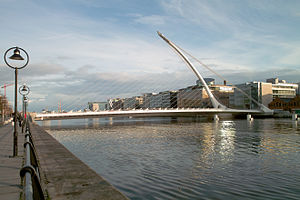Samuel Beckett Bridge - Image: The Samuel Beckett Bridge
