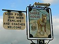 The Shire Horse pub sign, Grateley - geograph.org.uk - 999192.jpg