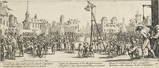 The Strappado by Jacques Callot