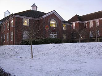 "The Thomas Hardye School - The Thomas Hardye School central building, known as ""The Spine"""
