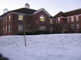 "The Thomas Hardye School - The Thomas Hardye School central building, known as ""The Spine"""