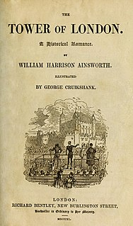 <i>The Tower of London</i> (novel) book by William Harrison Ainsworth