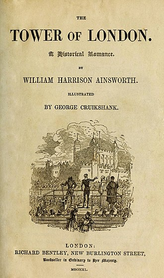 The Tower of London (novel) - First edition title page