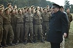 The Visit of the Prime Minister, Winston Churchill To Caen, Normandy, 22 July 1944 TR2043.jpg