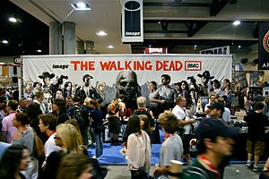 The Walking Dead (season 1) - A set-up of The Walking Dead at the 2010 San Diego Comic-Con International in San Diego, California.