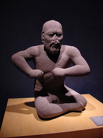 "1st millennium BC - ""The Wrestler"", an Olmec era statuette, dated roughly 1400–400 BC"