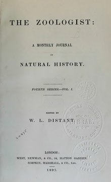 The Zoologist, 4th series, vol 1 (1897).djvu