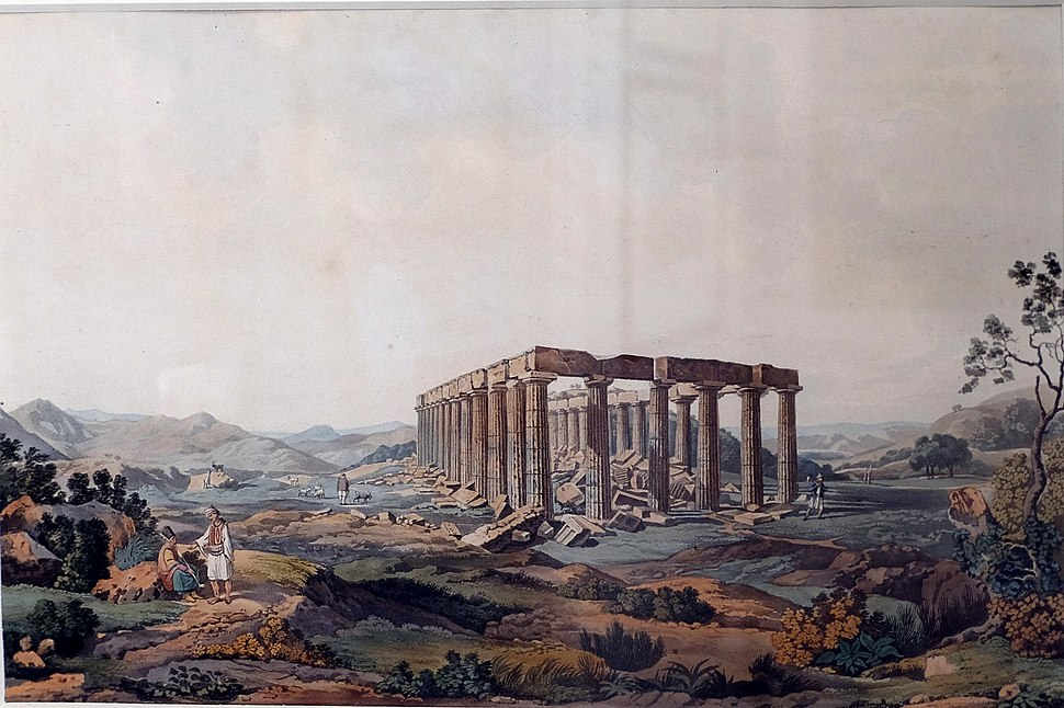 The temple of Apollo Epicurius at Bassae by Edward Dodwell