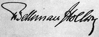 Theobald von Bethmann-Hollweg - Image: Theobald von Bethmann Hollweg signature