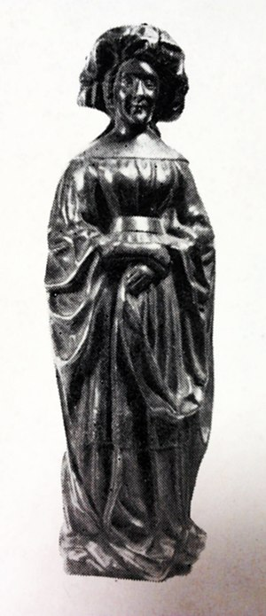 Catherine of Burgundy - Statuette of Catherine of Burgundy from the tomb of Isabella of Bourbon, ca. 1476 (National Museum in Warsaw).