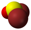 3D model of a thionyl bromide molecule