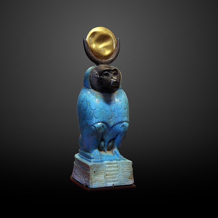 Le dieu Thot représenté en babouin