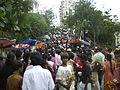 Thronging crowds in the queue to the entrance of 'Mount Mary Church'..JPG