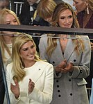 Tiffany Trump, Ivanka Trump, and Lara Trump at Inaugural parade 01-20-17.jpg