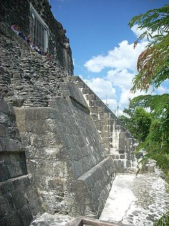 Tikal Temple IV - Image: Tikal Temple IV summit