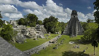 2012 phenomenon - The Mayan fire ceremony held at dawn in Tikal on 21 December 2012, took place in the main plaza in front of the Temple of the Great Jaguar.