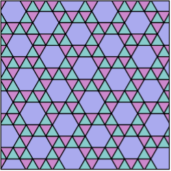 Tiling Semiregular 3-3-3-3-6 Snub Hexagonal.svg